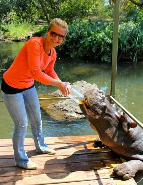 Dr. Monaghan and a HIPPO!
